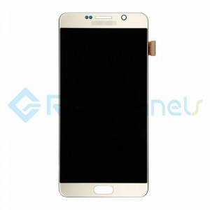 For Samsung Galaxy Note 5 Series LCD and Digitizer Assembly with Stylus Sensor Film - Gold - Grade S+