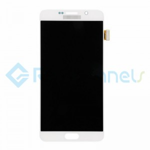 For Samsung Galaxy Note 5 Series LCD and Digitizer Assembly with Stylus Sensor Film - White - Grade S+