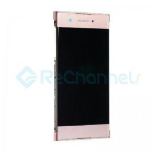 For Sony Xperia XA1 LCD Screen and Digitizer Assembly with Front Housing Replacement - Pink - Grade S+