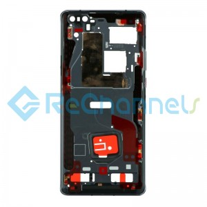 For Huawei Mate 40 Pro Front Housing Replacement - Black - Grade S+