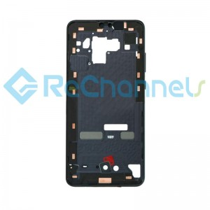 For Huawei Mate 30 Front Housing Replacement - Black - Grade S+