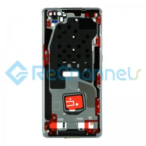 For Huawei Mate 40 Pro Front Housing Replacement - Silver - Grade S+