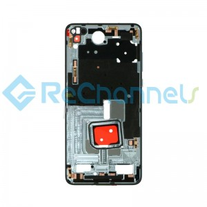 For Huawei P40 Front Housing Replacement - Silver - Grade S+