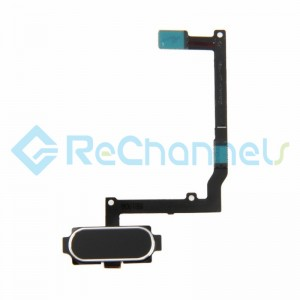 For Samsung Galaxy A9 (2016) Home Button With Flex Cable Ribbon Replacement - Silver - Grade S+