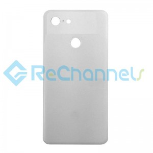 For Google Pixel 3 Battery Door Replacement (With Adhesive) - White - Grade S+