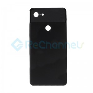 For Google Pixel 3 XL Battery Door Replacement (With Adhesive) - Black - Grade S+