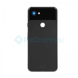 For Google Pixel 3a Battery Door Replacement - Black - Grade S+