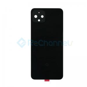 For Google Pixel 4 Battery Door Replacement - Black - Grade S+