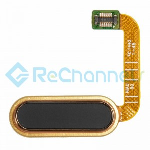 For HTC One A9 Home Button Flex Cable Ribbon Replacement - Black - Grade S+