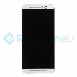 For HTC One M9 LCD Screen and Digitizer Assembly with Front Housing Replacement - Silver - Grade S+