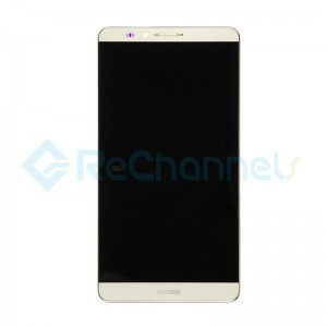 For Huawei Ascend Mate7 LCD Screen and Digitizer Assembly with Front Housing Replacement - Gold - Grade S