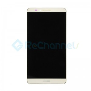 For Huawei Ascend Mate 7 LCD Screen and Digitizer Assembly with Front Housing Replacement - Gold - Grade S+