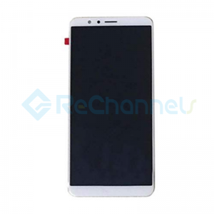 For Huawei Honor 7X LCD Screen and Digitizer Assembly with Front Housing Replacement - White - Grade S+