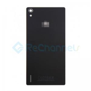 For Huawei P7 Battery Door Replacement - Black - Grade S+