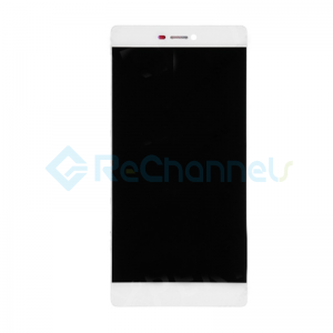 For Huawei P8 LCD Screen and Digitizer Assembly with Front Housing Replacement - White - Grade S+