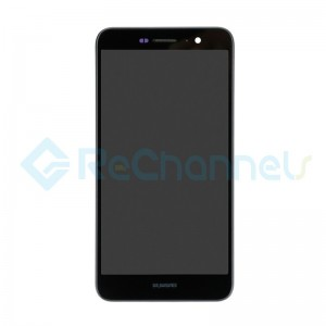 For Huawei Y6 Pro/Enjoy 5 LCD Screen and Digitizer Assembly with Front Housing Replacement - Black - Grade S