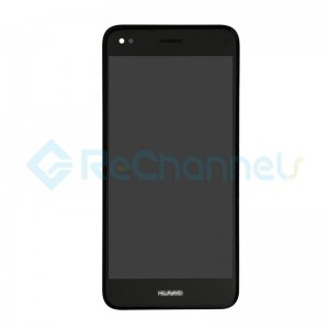For Huawei Y7 2017 LCD Screen and Digitizer Assembly with Front Housing Replacement - Black - Grade S+