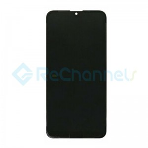 For Huawei Y7 2019 LCD Screen and Digitizer Assembly with Front Housing Replacement - Black - Grade S+