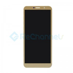 For Huawei Y7 (Enjoy 7 Plus) LCD Screen and Digitizer Assembly with Front Housing Replacement - Gold - Grade S