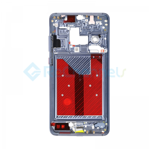 For Huawei Mate 20 Front Housing LCD Frame Bezel Plate Replacement - Midnight Blue - Grade S+