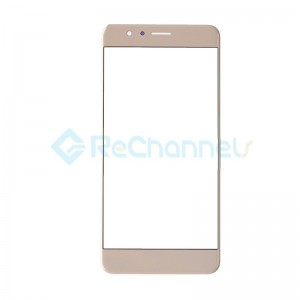For Huawei Honor 8 Front Glass Lens Replacement - Gold - Grade S+