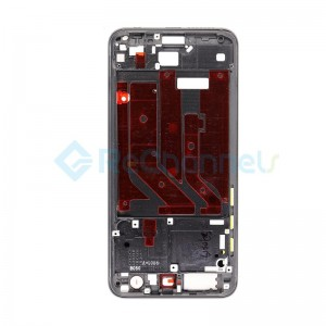 For Huawei Honor 9 Front Housing LCD Frame Bezel Plate Replacement - Black - Grade S+