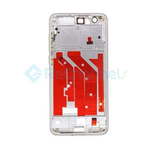 For Huawei Honor 9 Front Housing LCD Frame Bezel Plate Replacement - Gray - Grade S+
