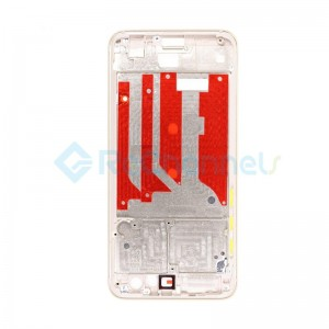 For Huawei Honor 9 Front Housing LCD Frame Bezel Plate Replacement- Gold - Grade S+