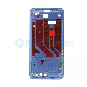 For Huawei Honor 9 Front Housing LCD Frame Bezel Plate Replacement - Blue - Grade S+