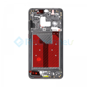 For Huawei Mate 20 Front Housing LCD Frame Bezel Plate Replacement - Black - Grade S+