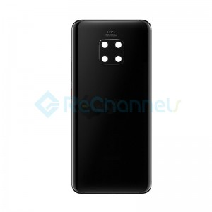 For Huawei Mate 20 Pro Battery Door Replacement - Black - Grade S+