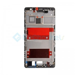 For Huawei Mate 8 Front Housing LCD Frame Bezel Plate Replacement - Black - Grade S+