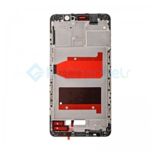 For Huawei Mate 9 Front Housing LCD Frame Bezel Plate Replacement - Black - Grade S+