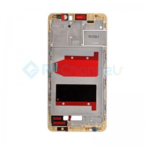 For Huawei Mate 9 Front Housing LCD Frame Bezel Plate Replacement - Gold - Grade S+