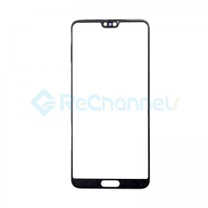 For Huawei P20 Pro Front Glass Lens Replacement - Black - Grade S+