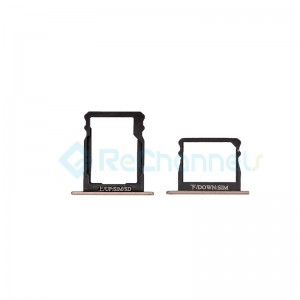 For Huawei P8 Double SIM Card Tray Replacement - Gold - Grade S+