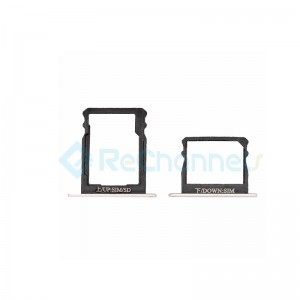 For Huawei P8 Double SIM Card Tray Replacement - Silver - Grade S+