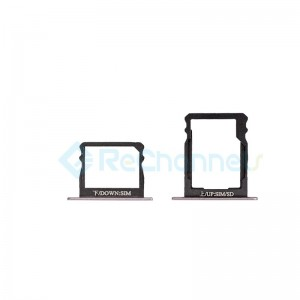 For Huawei P8 Double SIM Card Tray Replacement - Gray - Grade S+