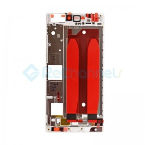 For Huawei P8 Front Housing LCD Frame Bezel Plate Replacement - White - Grade S+