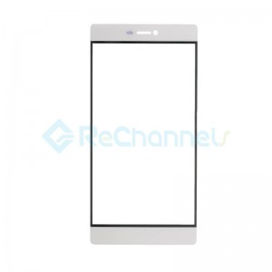 For Huawei P8 Front Glass Lens Replacement - White - Grade S+