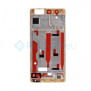 For Huawei P9 Front Housing LCD Frame Bezel Plate Replacement - Gold - Grade S+