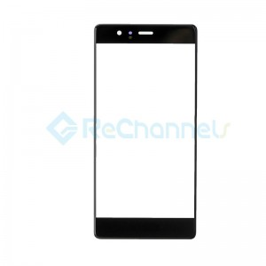 For Huawei P9 Front Glass Lens Replacement - Black - Grade S+