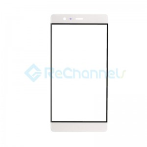 For Huawei P9 Plus Front Glass Lens Replacement - White - Grade S+