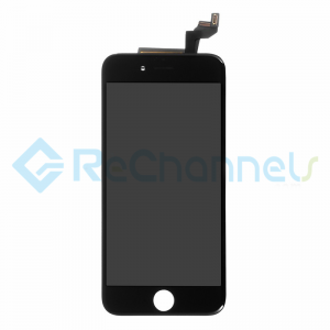 For Apple iPhone 6S LCD Screen and Digitizer Assembly with Frame Replacement - Black - Grade R+