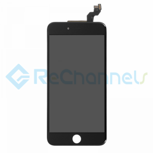 For Apple iPhone 6S Plus LCD Screen and Digitizer Assembly with Frame Replacement - Black - Grade S