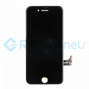 For Apple iPhone 7 LCD Screen and Digitizer Assembly with Frame Replacement - Black - Grade S