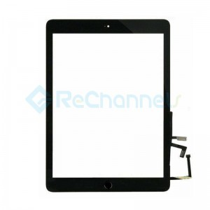 For iPad (5th Gen) Digitizer Touch Screen Assembly Replacement - Black - Grade S