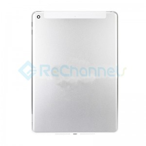 For iPad (5th Gen) Rear Housing Replacement (Wi-Fi + Cellular) - Silver - Grade S