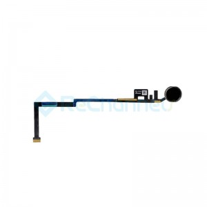 For iPad (5th Gen) Home Button Assembly with Flex Cable Ribbon Replacement - Black - Grade R