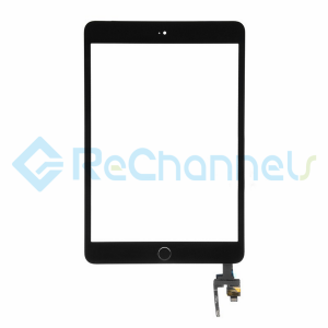 For Apple iPad Mini 3 Digitizer Touch Screen Assembly with IC Board Replacement (Without Home Button) - Black - Grade R
